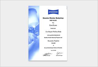 STANDOX認定ペインター